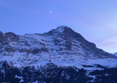 Neujahr 2020 Eiger, Switzerland