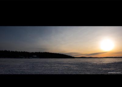 Sonne über dem Menesjärvisee (FI), Foto-Nr. 209