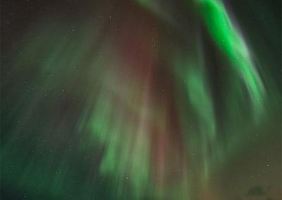 Nordlicht über dem Hotel Korpikartano, Menesjärvi FI, Foto-Nr. 202