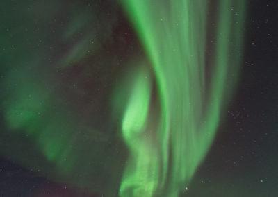Nordlicht über de Hotel Korpikartano (Menesjärvi, FI), Foto-Nr. 205