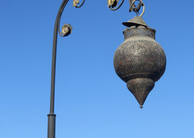 Strassenlampe in Marrakesch (MAR), Foto-Nr. 335