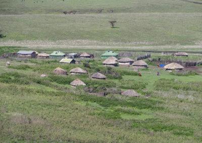 Massaidorf, Ngorongoro Naturschutzgebiet (TZ)